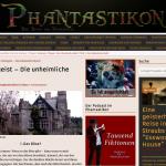 Screenshot meines Artikels über die Serie Poltergeist auf dem Blog Phantastikon - Tausend Fiktionen