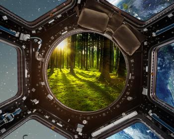 Raumstation Blick auf Erde